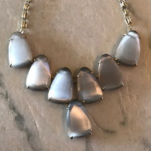 grey kendra scott statement necklace